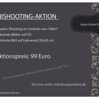 Angebot Fotoshooting November Studio Rheinfelden