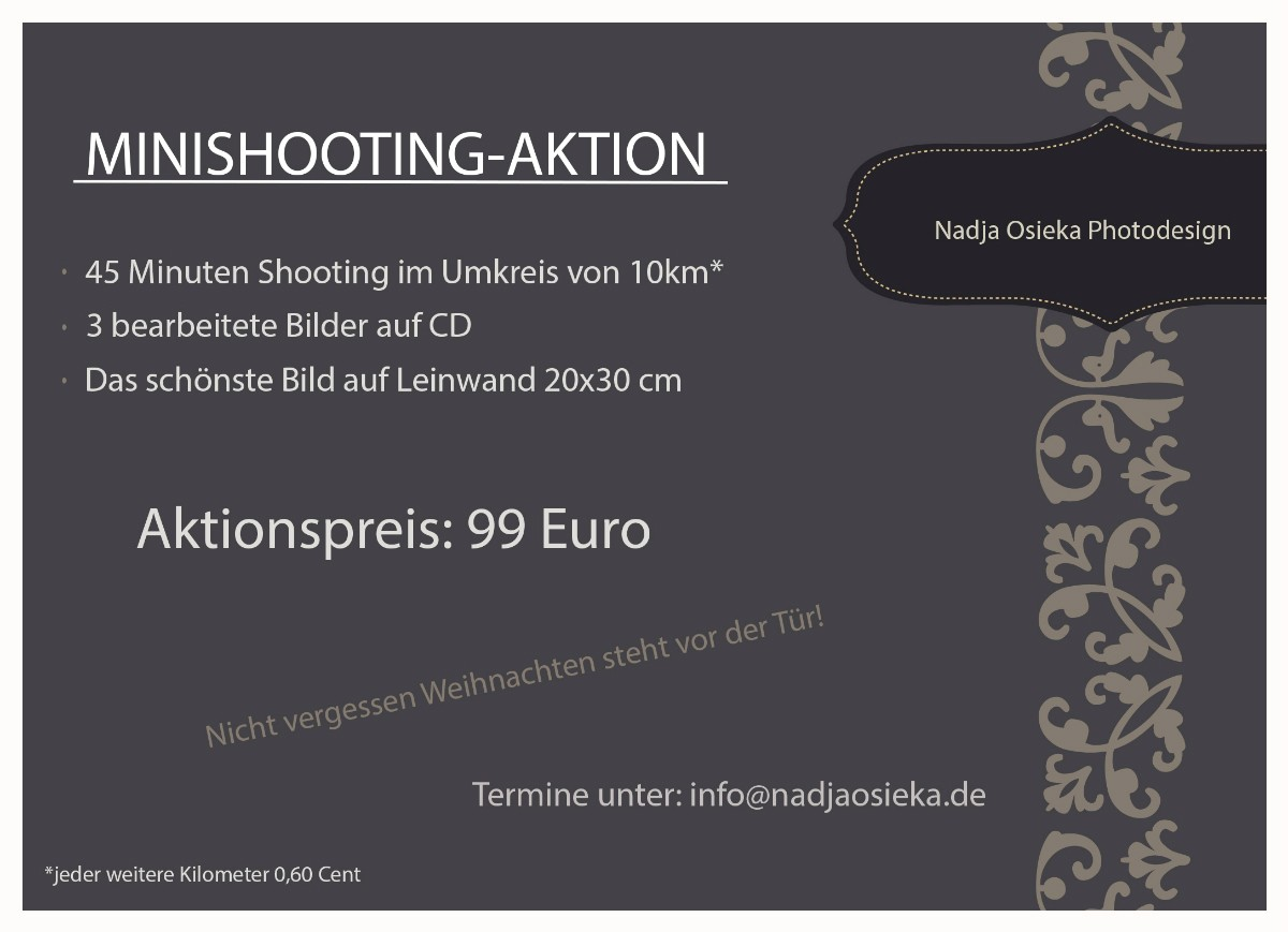 Angebot Fotoshooting November Studio Rheinfelden