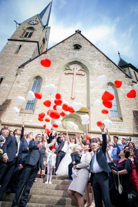 Hochzeit Binningen Ballonsteigen