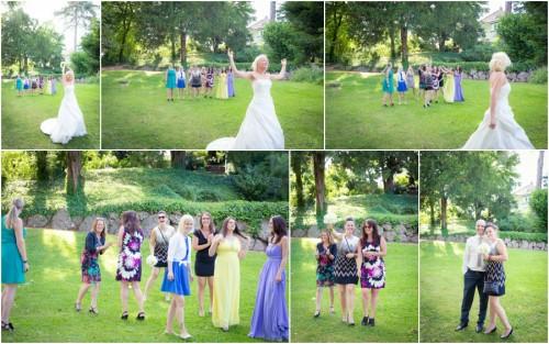 Brautstrausswerfen Hochzeit Rheinfelden
