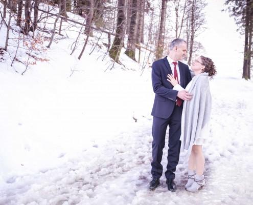Brautpaarshooting im Schnee Schauinsland