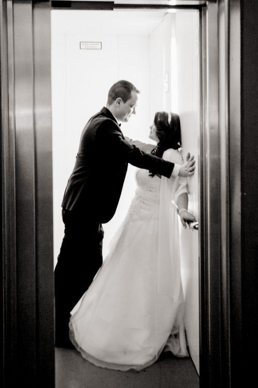 Brautpaarfoto Schwarz Weiss