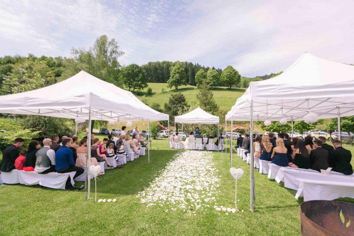 Hochzeit Im Freien Zelt