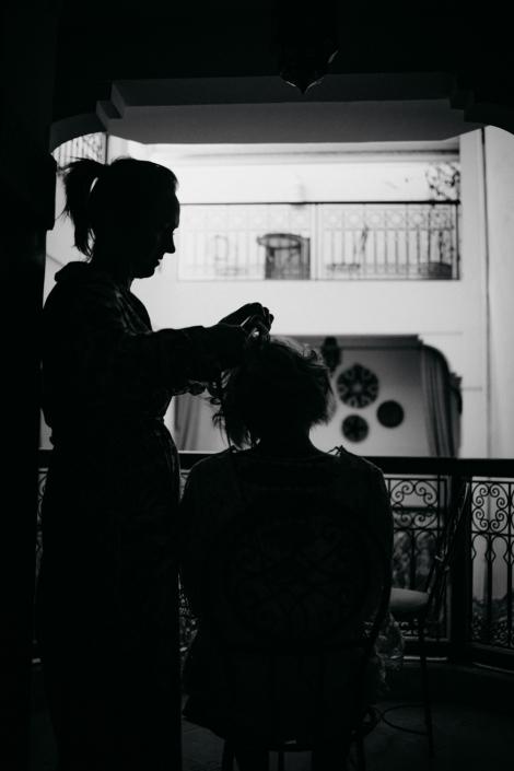 Getting Ready Styling Braut Marrakesch