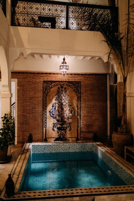 Workshop im Riad in Marrakesch