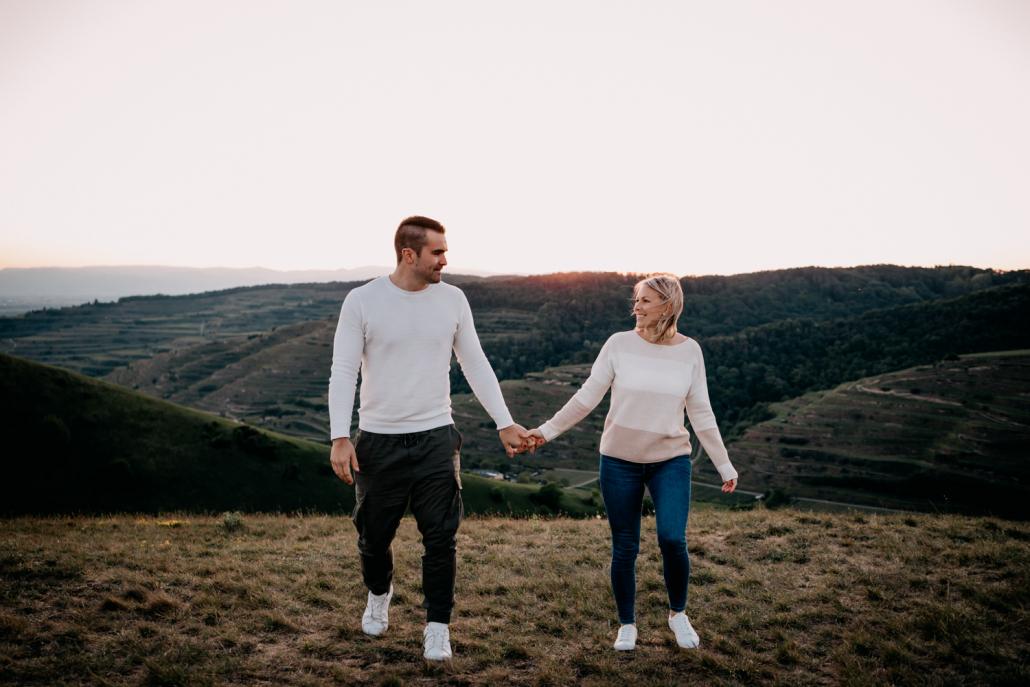 Verlobungsshooting in den Weinbergen