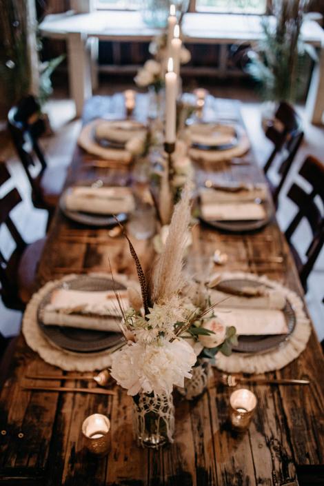 Bohodeko Hochzeitstisch