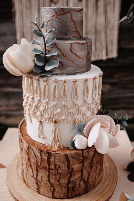 Torte mit Makramee