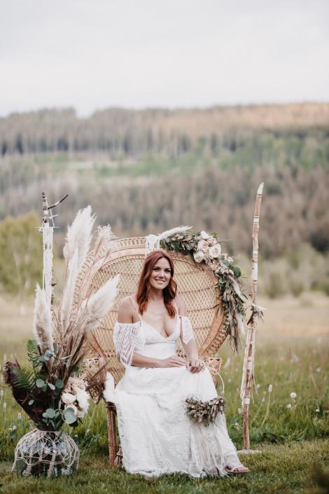 Pfauenthron Hochzeit Boho