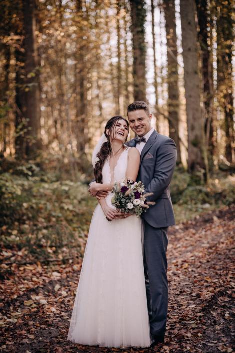 Brautpaarshooting im Wald Lörrach