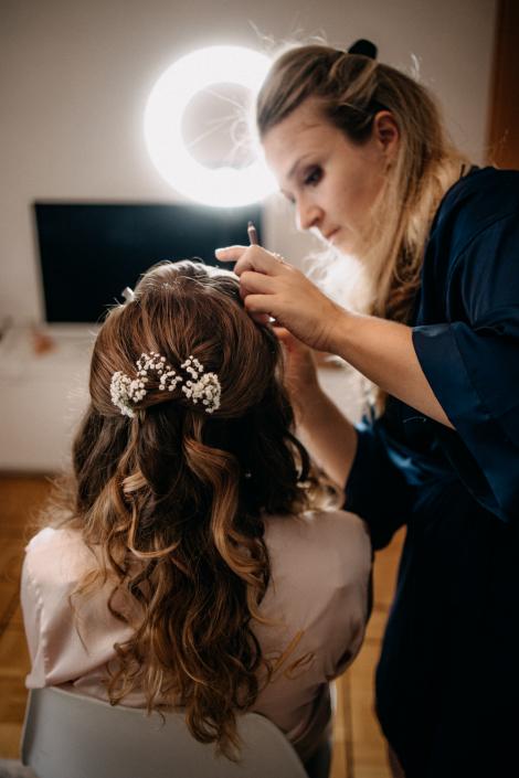 Braut Getting Ready