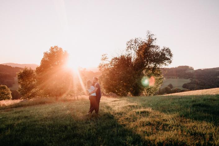 Paarshooting bei Sonnenuntergang