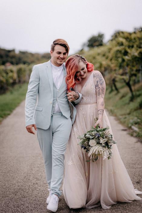 Brautpaarshooting Reben Boho Aesch
