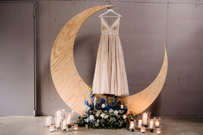 Bohokleid Mond Sterne Bridal Boutique