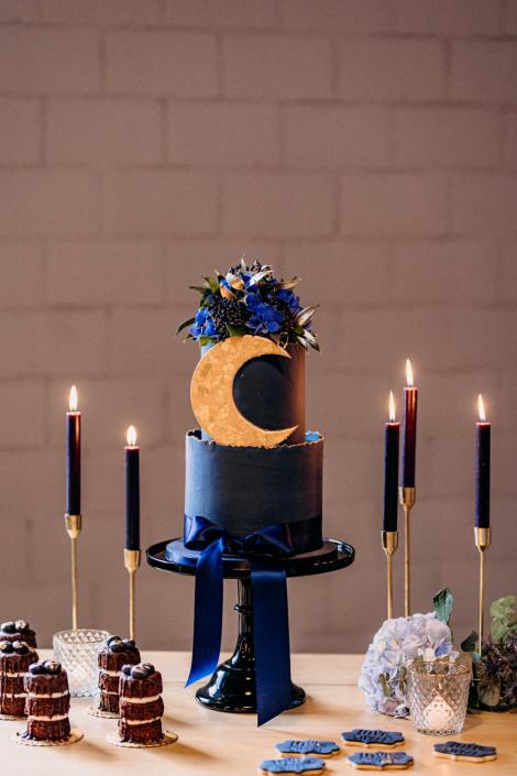 Torte Mond Sterne Hochzeit